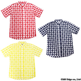 A BATHING APE - MILO GINGHAM CHECK BD S/S SH