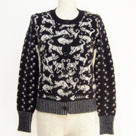 SEE BY CHLOE - Cats group jacquard cardigan