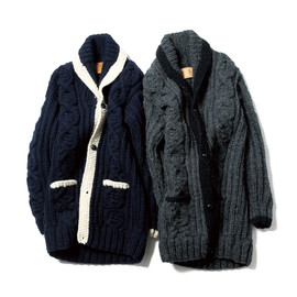 SOPHNET. - CANADIAN SWEATER LONG KNIT CARDIGAN