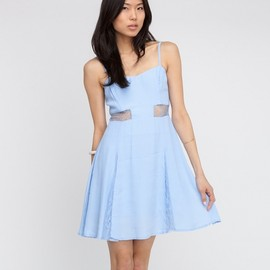 Need Supply - Watercolor Dress In Blue