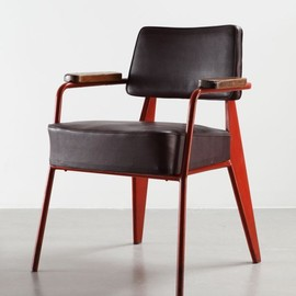 Jean Prouve - Presidence armchair, red