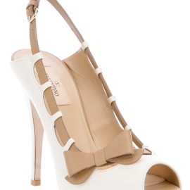 VALENTINO - Bow detail peep toe pump