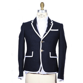 THOM BROWNE - Navy Jacket With Piping detail