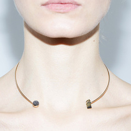 Jene Despain - Black & Green Asteroid Choker