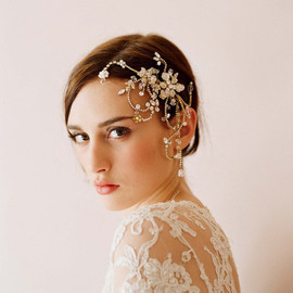 Twigs&Honey - Dazzling twisted rhinestone and pearl headpiece