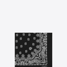 SAINT LAURENT PARIS - BANDANA SQUARE SCARF