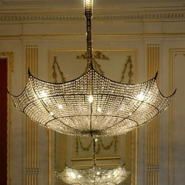 umbrella crystal chandelier