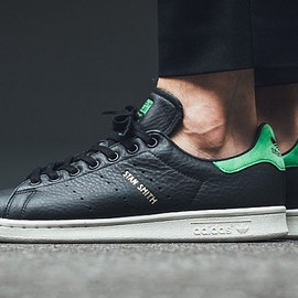 adidas originals - Stan Smith - Black/Green