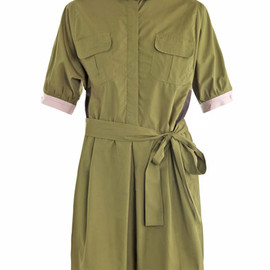 Thierry Colson - Iolanda colour-block shirt dress