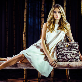 Mulberry - MINI CARA DELEVINGNE BAG IN MONOCHROME CAMOUFLAGE HAIRCALF