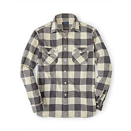 Polo Ralph Lauren - Gray Plaid Cotton Twill Workshirt for Men | Lyst