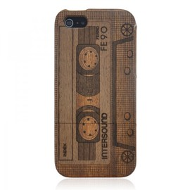 alanatt - Wood iPhone 5 Case - Hand Carved Vintage Tape