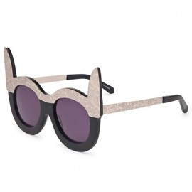 KAREN WALKER - Vava black gold sunglasses