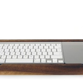 Wooden Apple Keyboard Try Set Down