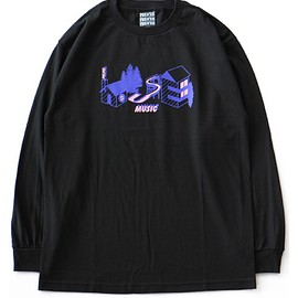 PELVIS - 'All Night Long' L/S Tee (black)