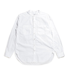 ENGINEERED GARMENTS - Banded Collar Shirt-Superfine Poplin-White