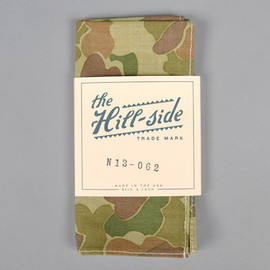 The Hill-Side - N13-062 Reversible Camo Print Herringbone Twill Pocket Square