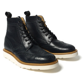 Mark McNairy New Amsterdam - for HAVEN Navy Country Brogue Boot