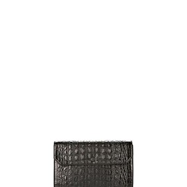 ALEXANDER WANG - CHASTITY CLUTCH IN EMBOSSED BLACK WITH YELLOW GOLD
