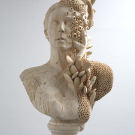 Morgan Herrin - Hand-carved wood sculptures