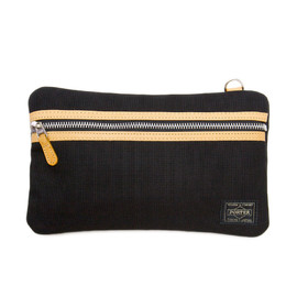 "HEAD PORTER - ""LX"" TRAVEL POUCH BLACK"