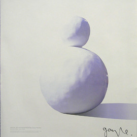 Gary Hume - Back of a Snowman poster signed