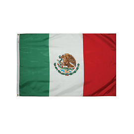 Valley Forge Flag - Valley Forge Flag 3' x 5' Printed Nylon Mexican Flag