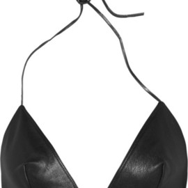 SAINT LAURENT - LEATHER BRA TOP