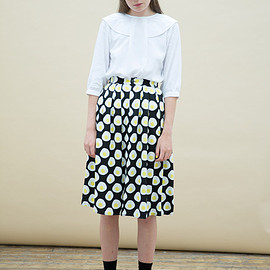 the whitepepper - Midi Skirt in Egg Print