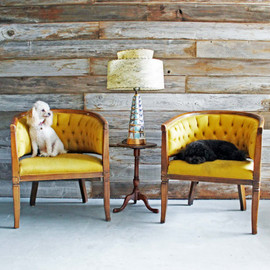 Pair of Chartreuse Vintage Mid Century Hollywood Regency Tufted Club Chairs