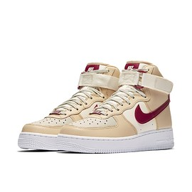 NIKE - Air Force 1 Hi - White Onyx/Noble Red/Pale IvoryWhite