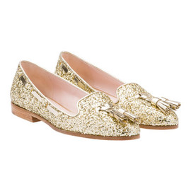 miu miu - LOAFER Glitter slipper with tassels