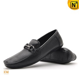 CWMALLS - Black Leather Loafers Driving Shoes CW712395 - cwmalls.com