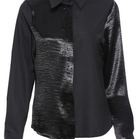 romwe - Dual-tone Black Chic Shirt pictures