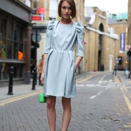 Carven - baby blue mid sleeve dress