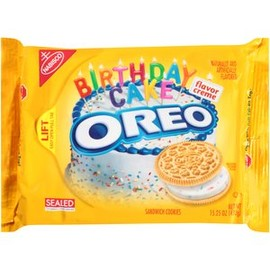 Nabisco - Nabisco Oreo Golden Birthday Cake Flavor Creme Sandwich Cookies, 15.25 oz