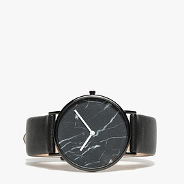 The Horse - BLACK MARBLE/BLACK BAND WATCH