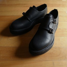 "KIDS LOVE GAITE - DOUBLE MONK SHOE ""BLACK"""