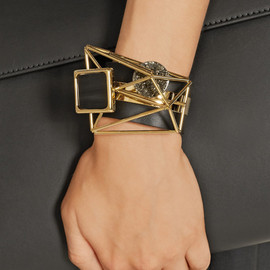 MARNI - Embellished leather and gold-plated bracelet