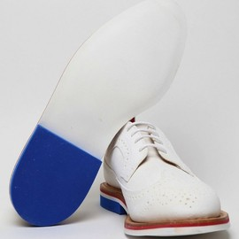 THOM BROWNE - Thom Browne White Wingtip Brogue