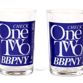 BBP - Check One Two Glass Set