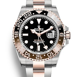 ROLEX - GMT Master II Oyster, 40 mm, Oystersteel and Everose gold