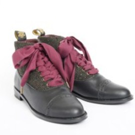 F-Troupe - DY229 LEATHER & TWEED BLACK(WAS £140)