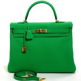 HERMES - Bambou Togo Leather 35 Cm Kelly Bag