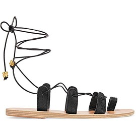 Ancient Greek Sandals - + ilias LALAoUnis Alcyone lace-up leather-trimmed snake sandals