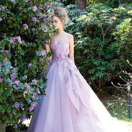 jillian sposa 2014 azalea strapless color wedding dress purple lilac lavender style 95814
