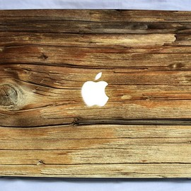 Natural wood vinyl macbook and laptop decal - Natural wood vinyl macbook and laptop decal