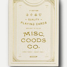MISC.GOODS CO. - Ivory Playing Card