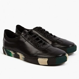 COMME des GARCONS SHIRT - X The Generic Man Black/Green Leather Sneakers