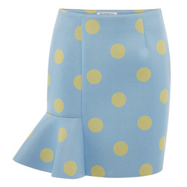 VIVETTA - Eva Scuba Dot Skirt In Pale Blue